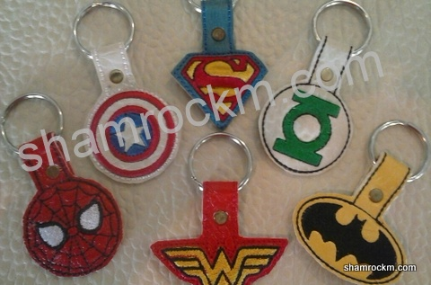Super Hero Key Fobs