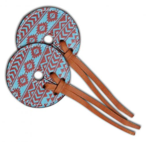 Teal and brown Navajo diamond Bit Guards