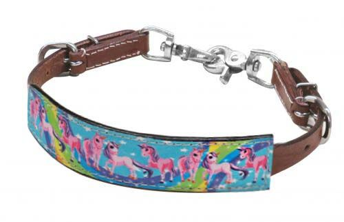 "PONY SIZE  "" Rainbow Pony"" wither strap"