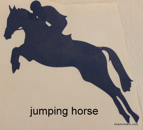 Jumping Horse 1-jumping horse vinyl decal, vinyl decals, jumpers, hunter jumpers,
