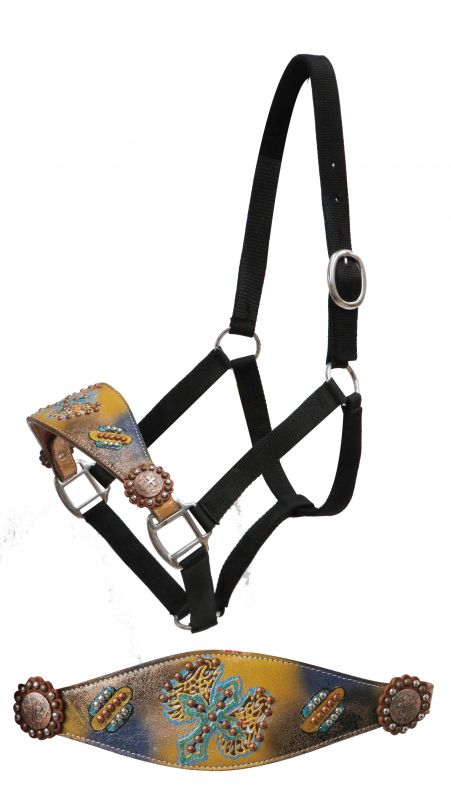 Full Size painted cross bronc halter