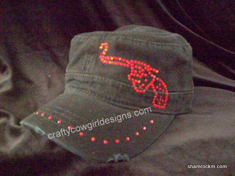Distressed Military Cap-distressed military cap, rhinestone caps, military caps, cadet caps,