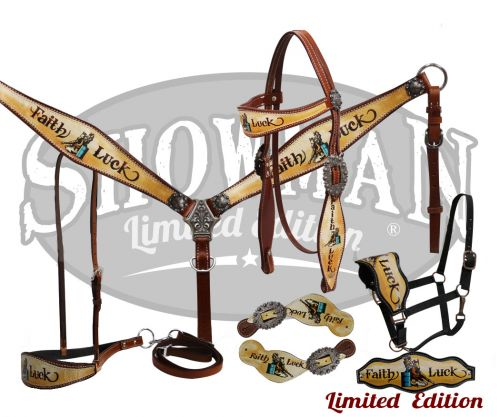 LIMITED EDITION  5 Piece Faith & Luck tack set-LIMITED EDITION  5 Piece Faith & Luck tack set