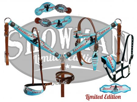 "LIMITED EDITION  5 Piece ""3  Barrels, 2 Hearts, 1 Dream"" tack set- LIMITED EDITION  5 Piece 3  Barrels, 2 Hearts, 1 Dream tack set"