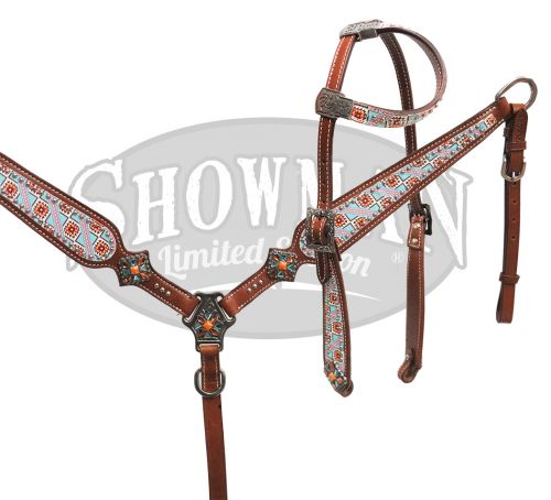 LIMITED EDITION  Navajo design headstall and breast collar set- LIMITED EDITION  Navajo design headstall and breast collar set