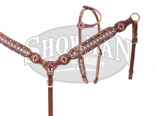 LIMITED EDITION  Beaded headstall and breast collar set-LIMITED EDITION  Beaded headstall and breast collar set