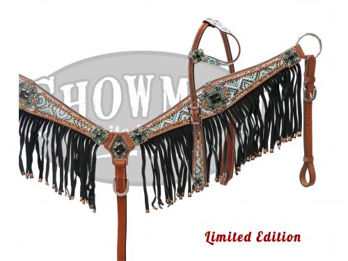 LIMITED EDITION Bejeweled Navajo diamond headstall and breast collar set-LIMITED EDITION Bejeweled Navajo diamond headstall and breast collar set