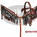 "LIMITED EDITION  "" Never Give Up"" copper painted headstall and breast collar set"