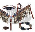 Limited Edition metallic fringe headstall and breast collar set