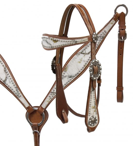 Winter camo overlay headstall and breast collar set.-Winter camo overlay headstall and breast collar set.