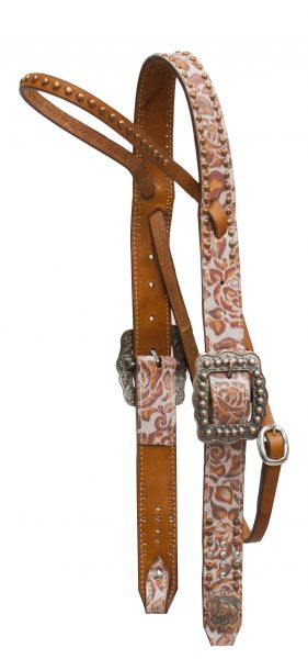 Argentina cow leather belt style headstall-Argentina cow leather belt style headstall