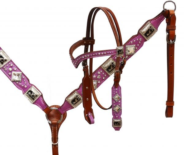 Praying cowboy headstall and breast collar
