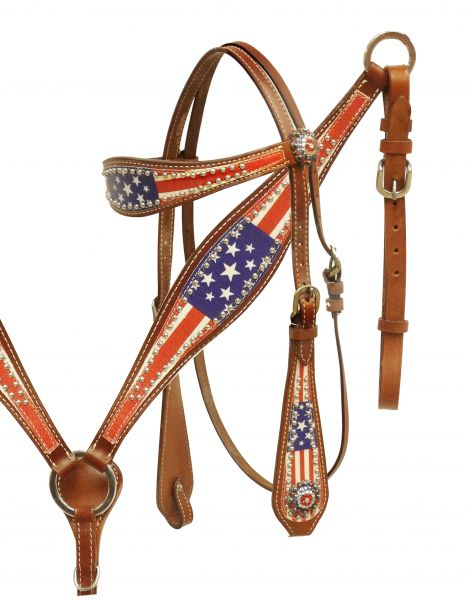 American Patriot headstall and breast collar set- American Patriot headstall and breast collar set