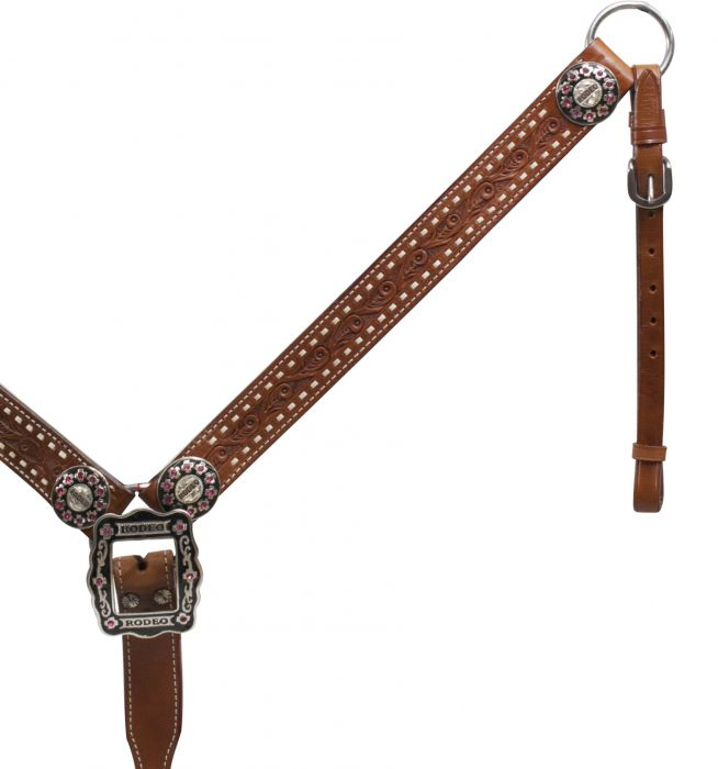 Belt Style Leather Rodeo Breast Collar-Belt Style Leather Rodeo Breast Collar