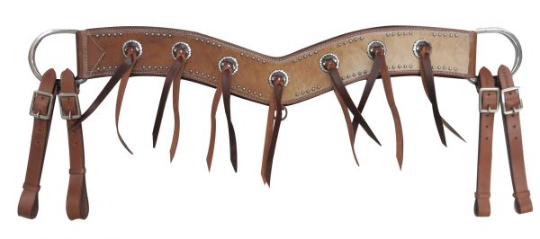 "3.5"" wide hair-on cowhide tripping collar"