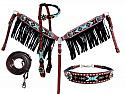 4 Piece beaded Navajo headstall and breast collar set