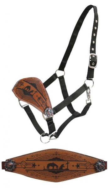 Praying cowboy bronc nose halter- Praying cowboy bronc nose halter