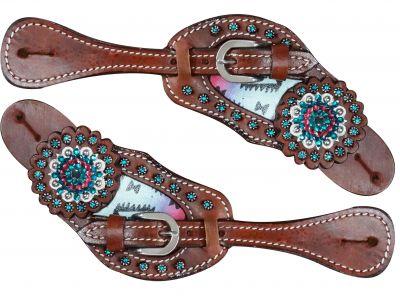 Pastel Navajo diamond spur straps