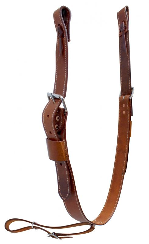 "1.75"" wide leather back cinch with roller buckles"