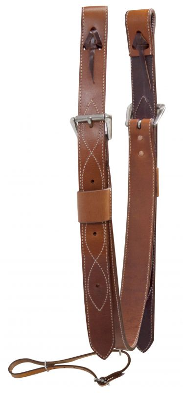 "2"" wide leather back cinch with roller buckles"