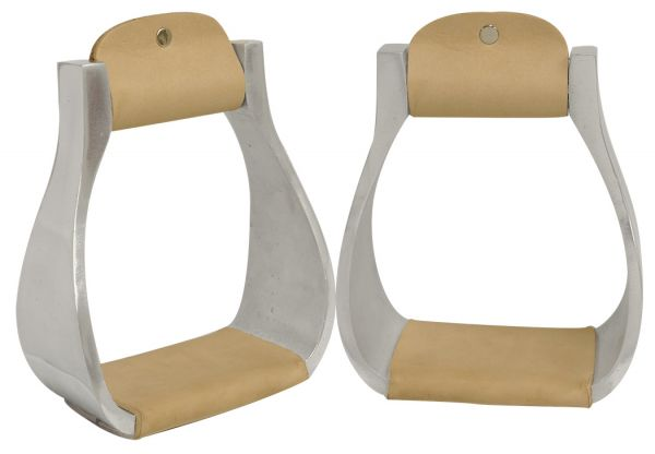 Light weight polished aluminum stirrups-Light weight polished aluminum stirrups