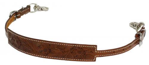 Floral tooled wither strap