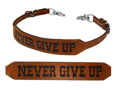 Never Give Up branded wither strap
