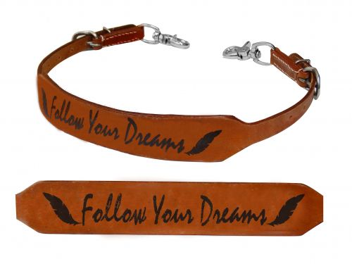 Follow Your Dreams branded wither strap-Follow Your Dreams branded wither strap