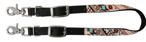 Nylon wither strap with Navajo print overlay- Nylon wither strap with Navajo print overlay