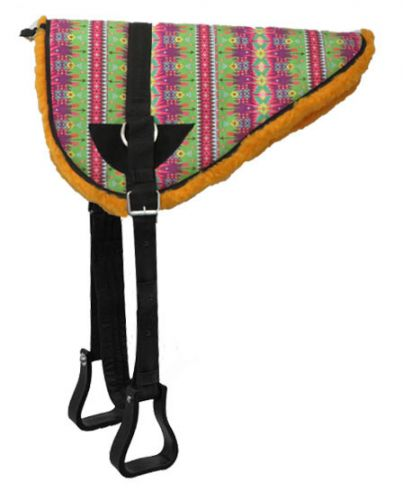 """ Easter Egg"" design bareback saddle pad with kodel fleece bottom"