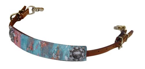 Copper patina print wither strap- Copper patina print wither strap