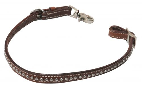 PONY  Studded leather wither strap with scissor snap end