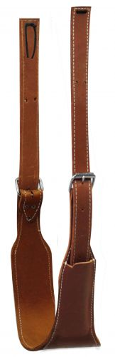 "American made 5 1/2"" wide oiled harness leather back cinch complete with roller buckles"