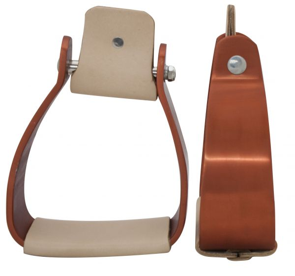 Angled Off Set Copper Colored Aluminum Stirrups- Angled Off Set Copper Colored Aluminum Stirrups