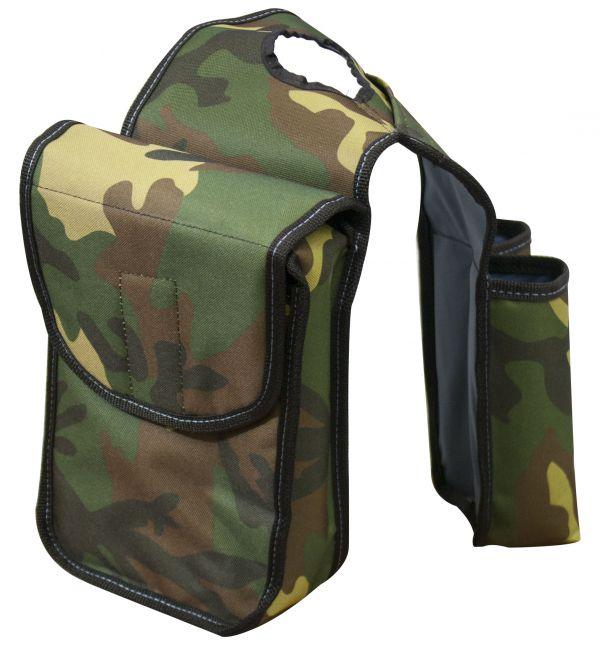 Green Army camo horn bag.-Green Army camo horn bag.