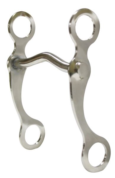 "Chrome plated horse grazing bit with 7.5"" cheeks with chrome plated 5"" medium port mouth piece"