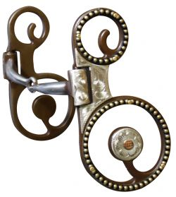 Antique Brown  Snaffle Bit-Antique Brown  Snaffle Bit