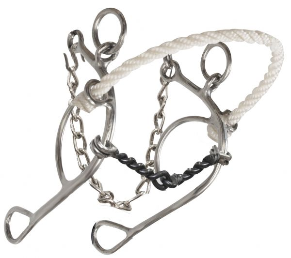 stainless steel, rope nose combination but with twisted sweet iron mouth