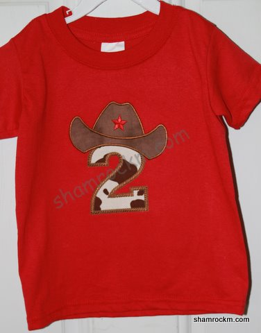 2nd Birthday Shirt-applique embroidery