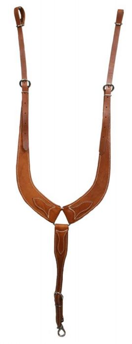 American made harness leather pulling breastcollar