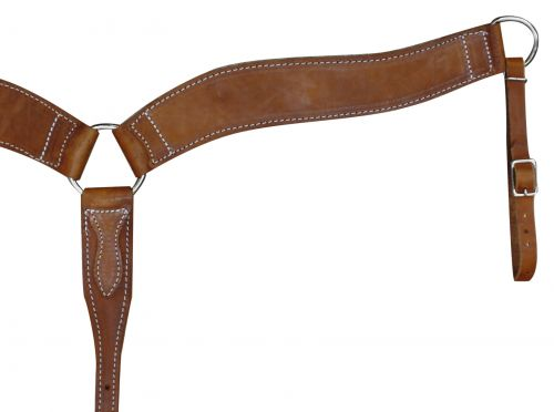 American Made Harness Leather Breast Collar-American Made Harness Leather Breast Collar