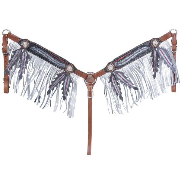 Zane Collection Breastcollar with Fringe-Zane Collection Breastcollar with Fringe