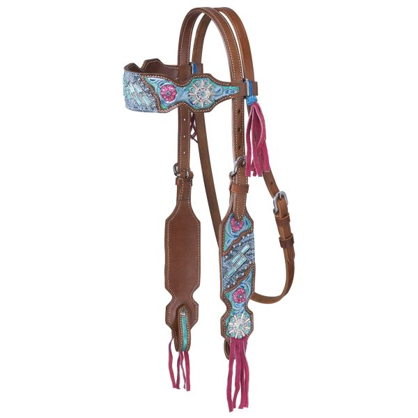 Macaelah Collection Headstall w/Fringe-Macaelah Collection Headstall w/Fringe