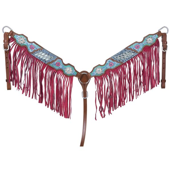 Macaelah Collection Breastcollar w/Fringe-Macaelah Collection Breastcollar w/Fringe