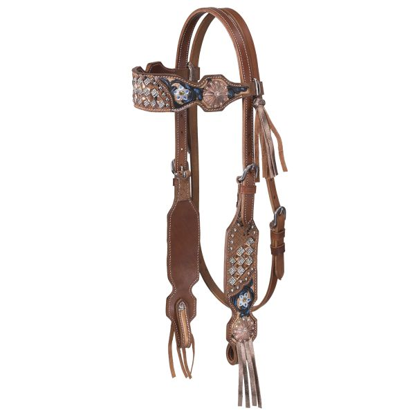 Savannah Collection Headstall w/Fringe-Savannah Collection Headstall w/Fringe