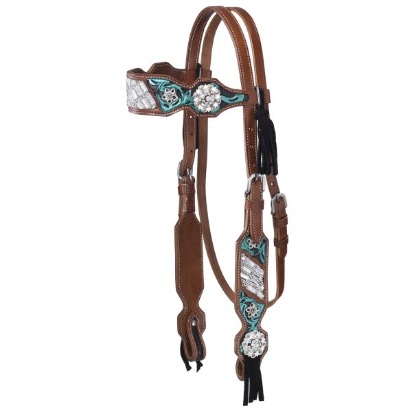 Ashton Collection Headstall w/Fringe