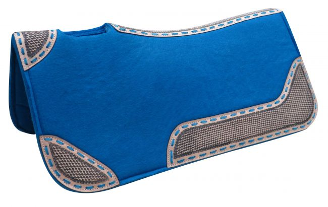 "32"" x 31"" x 1"" Turquoise blended felt saddle pad"