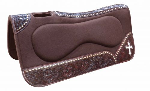 "31"" x 32"" x 1"" Brown felt built up saddle pad"