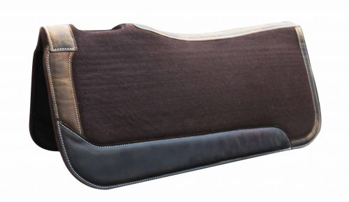 "31"" x 32"" x 1"" Brown felt saddle pad"