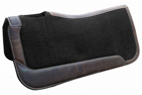 "31"" x 32"" x 1"" Black felt saddle pad"